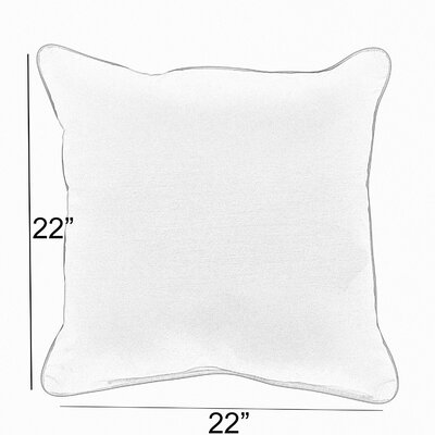 Vanhoose Indoor/Outdoor Throw Pillow Size: 22 x 22