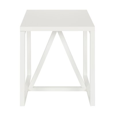 Dunstan Square End Table Color: White