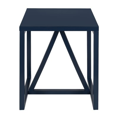 Dunstan Square End Table Color: Navy Blue