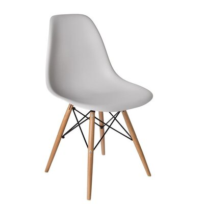 Wester Solid Wood Dining Chair Color: Light Gray