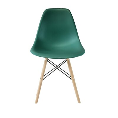 Wester Solid Wood Dining Chair Color: Peacock