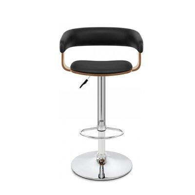Bryson Adustable Height Swivel Bar Stool Color: Black