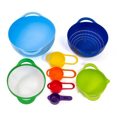 Colorful Stackable 8-Piece Mixing Bowl Set HKMBS-100