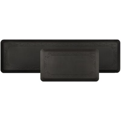 Stalder Kitchen Mat Color: Black