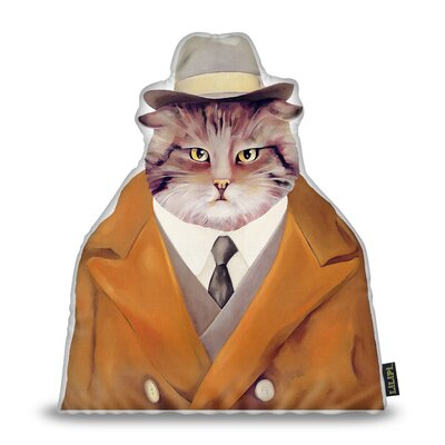 Jenson Detective Cat Throw Pillow