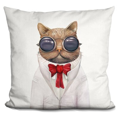 Peery Astro Cat Throw Pillow