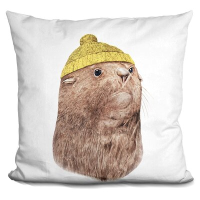 Pegasus Fur Seal Throw Pillow