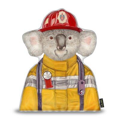 Jett Koala Firefighter Throw Pillow