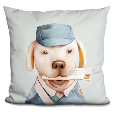 Kalpakis Delivery Dog Throw Pillow