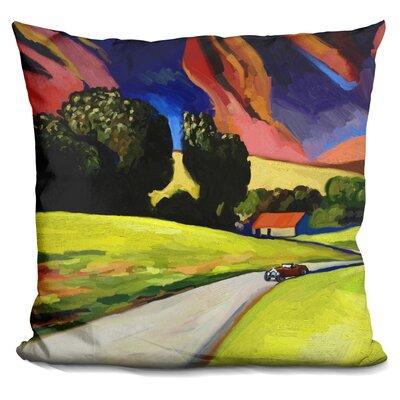 Retro Landscape Throw Pillow