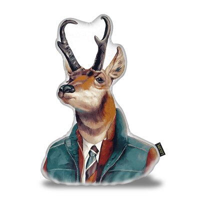 Pronghorn Deer Throw Pillow