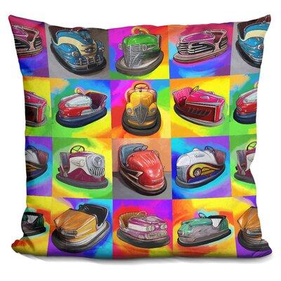 Bumper Cars Throw Pillow