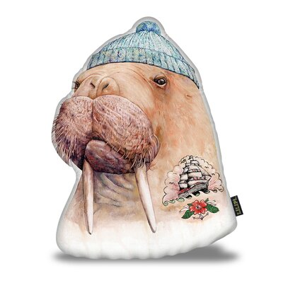 Harshbarger Tattooed Walrus Throw Pillow