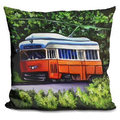 Trolley Throw Pillow
