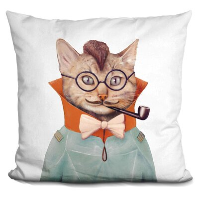 Hartig Eclectic Cat Throw Pillow