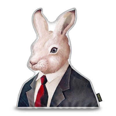 Harshbarger Rabbit Throw Pillow