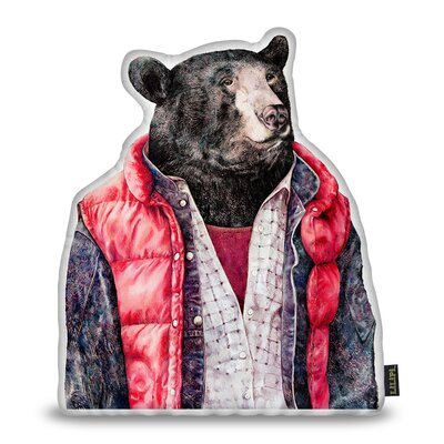 Jellison Bear Throw Pillow