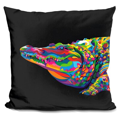 Crocodile Smile Throw Pillow