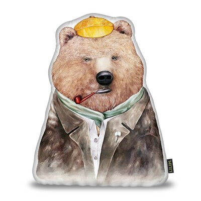 Jenkin Brown Bear Throw Pillow