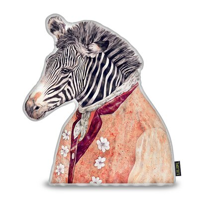 Harshbarger Zebra Throw Pillow