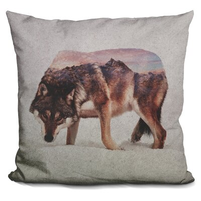Lemanski Wolf Andreas Lie Throw Pillow