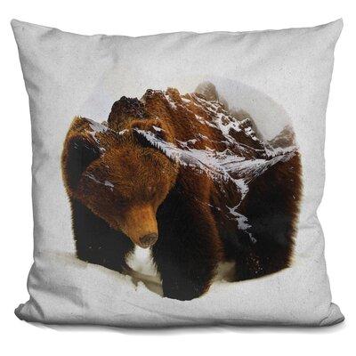 Lemanski Bear in the Mountains Throw Pillow