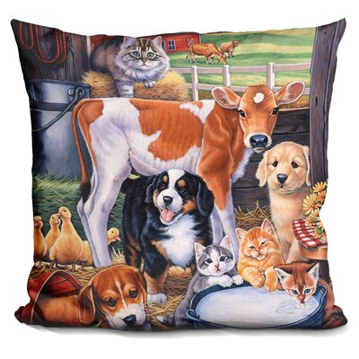 Barn Pals Throw Pillow