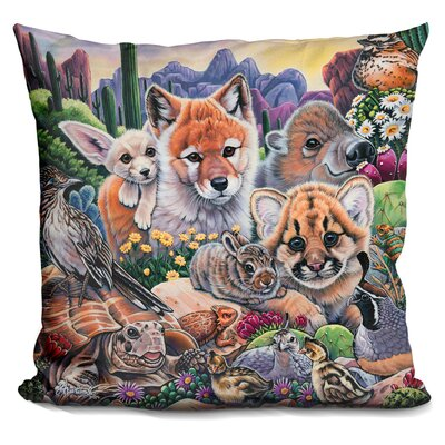 Desert Buddies Throw Pillow