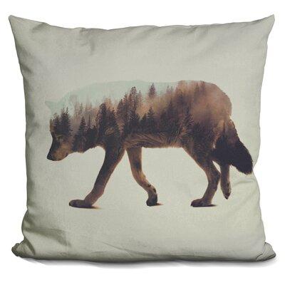 Leonidas the Wolf Norwegian Woods Throw Pillow