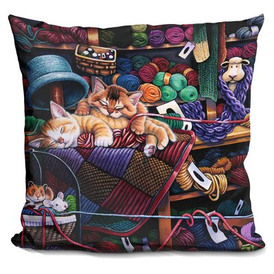 While Kittens Are Away Mice Will Play Throw Pillow