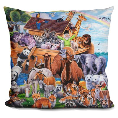 Noah Ark Throw Pillow
