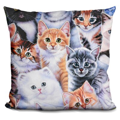 Kitten Collage Throw Pillow