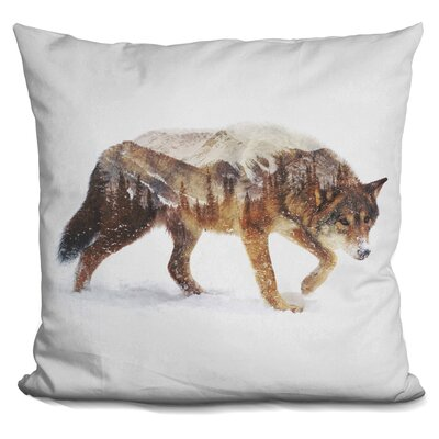 Okelly Wolf Throw Pillow