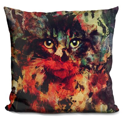 Martindale Watercolor Cat Throw Pillow