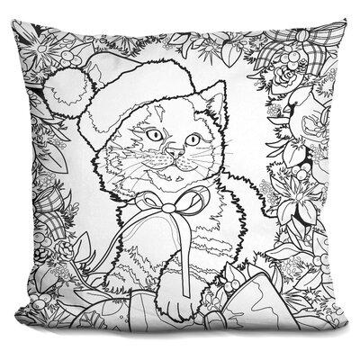 Berkey Christmas Cuties Throw Pillow Color: Black/White