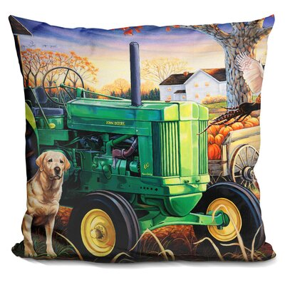 John Deer Pups Throw Pillow