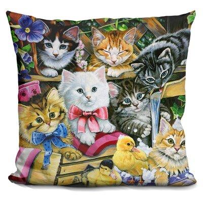 Bathtime Kittens Throw Pillow