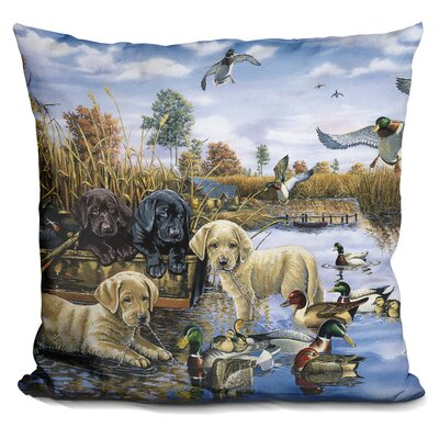 A Playful Tail Wagging Day Throw Pillow