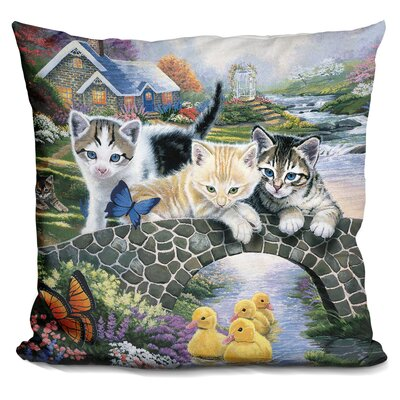 A Purrfect Day Throw Pillow