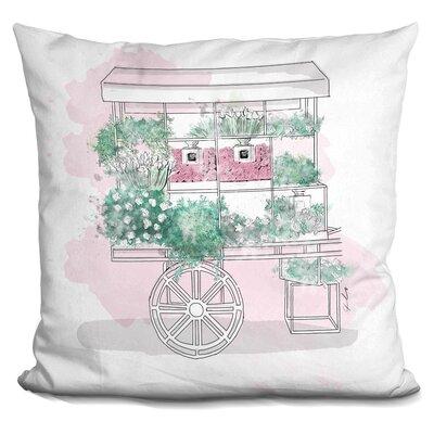 Beauty Cart Throw Pillow