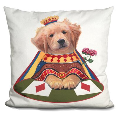 Queen of Diamonds Throw Pillow