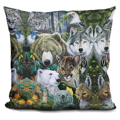 North Americas Endange Throw Pillow