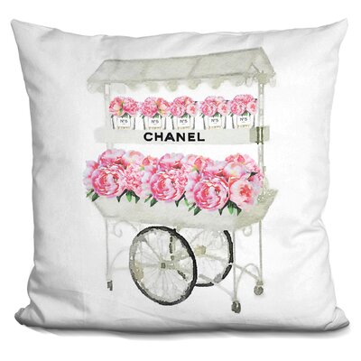 Flower Cart Throw Pillow