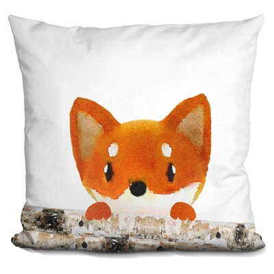 Decarlo Fox Logs Half Throw Pillow