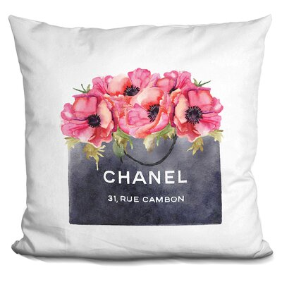 Isley Shopping Bag Poppies Throw Pillow