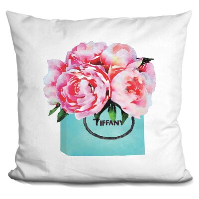 Isley Shopping Bad Peonies Throw Pillow