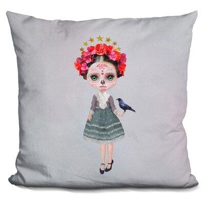Sq Miss Abby Sugar Skull Throw Pillow