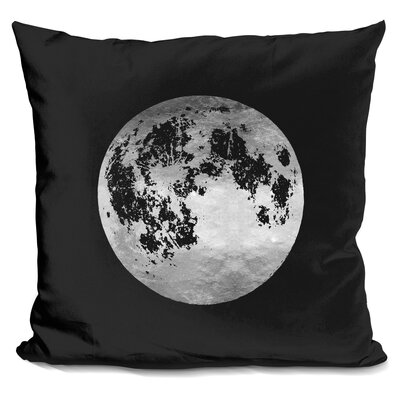 Moon Throw Pillow Color: Black/Silver