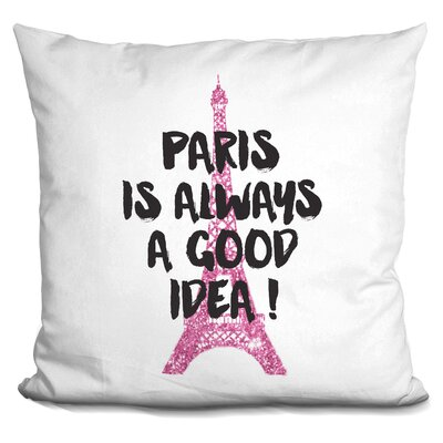 Isaiah Paris Good Idea Glitter Throw Pillow