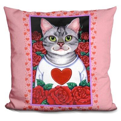 Core Cat Roses Throw Pillow